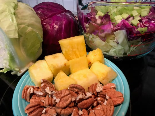 Ingredients for Cabbage-Pineapple Slaw