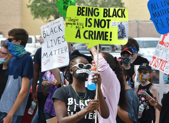 About 175-200 people participated in a peaceful Black Lives Matter march and rally for justice, mainly regarding the George Floyd case. They marched around the parking lot of the West Melbourne Walmart and along parts of Palm Bay Road on Monday afternoon, June 1.