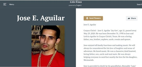Jose E. Aguilar died after a shooting on Bloomington Street on May  29, 2020.