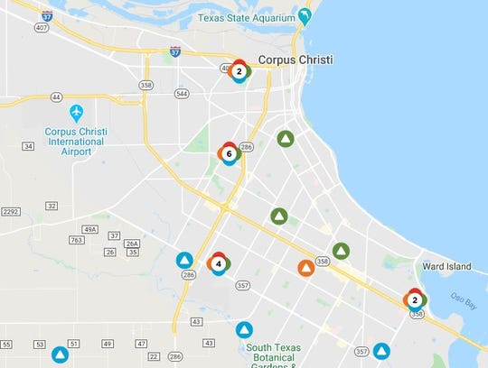 Heavy rain the rest of the week may lead to multiple power outages across Corpus Christi.