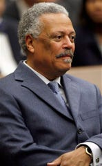 In this May 1, 2008 file photo, U.S. District Judge Emmet G. Sullivan is pictured during a ceremony at the federal courthouse in Washington.