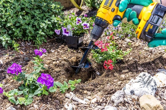 The Power Planter makes quick work of digging.
