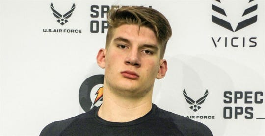 Tristan Bounds, an offensive tackle from Connecticut, verbally committed to Michigan on Monday.
