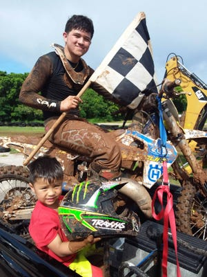 Owen Rios took the checkers in the Schoolboy Class in Round 3 of the 2020 Monster Energy Guam Motocross Championships Sunday at the Guam International Raceway in Yigo