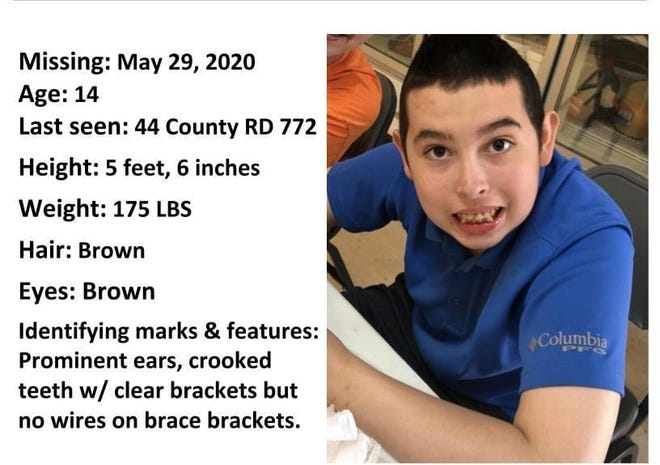 Nathan Covarrubias, 14, was last seen at 10 a.m. on Friday, May 29, 2020, leaving the property of Summit's View boarding school in Walnut, Mississippi, his mother said.