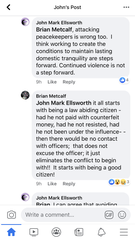 A screenshot of comments made May 31, 2020 on Facebook by Grand Ledge Public Schools Superintendent Brian Metcalf in the wake of George Floyd's death.