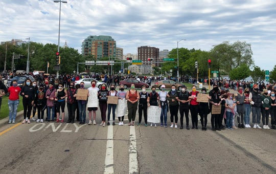 Demonstrators block John Nolen Drive, a main entrance to Madison, on Monday, June 1, 2020. It marked the third day of demonstrations in the capital city protesting the death of George Floyd in Minneapolis.