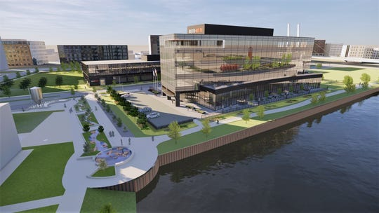 Rite-Hite Holding Corp.'s proposed corporate campus at Reed Street Yards business park has received Plan Commission approval.