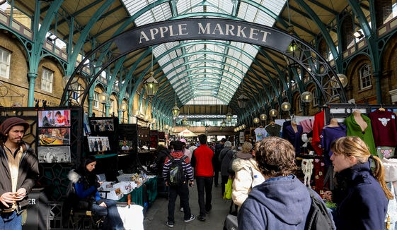 The Apple Market in Covent Garden in London.