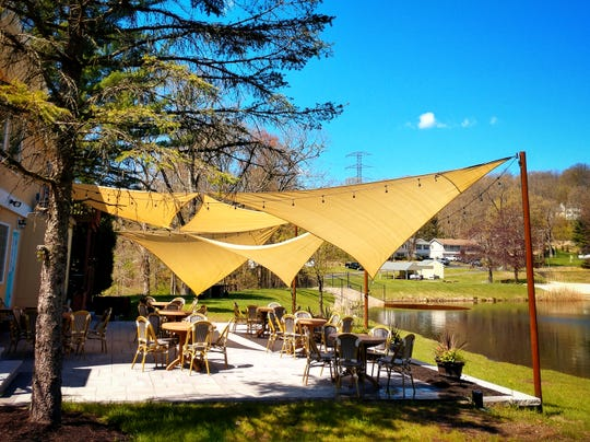 Some of the outdoor dining available at Andre's in Sparta