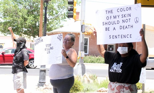 Izabella Collings, at right, saw her Facebook page grow based on the Black Lives Matter movement and the recent developments in the death of George Floyd in Minneapolis.
