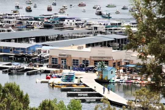 The Navajo Lake Marina Store is pictured, Monday, June 1, 2020.
