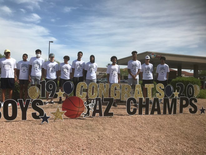 The Desert Vista boys basketball team is finally getting their state title rings.