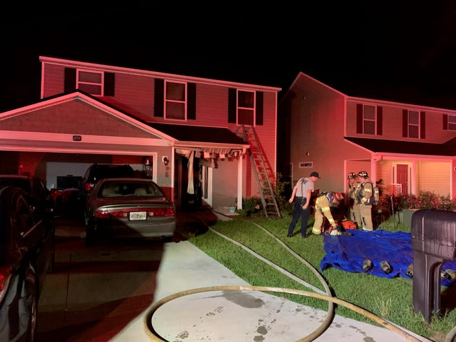 A fire early Monday morning on Rivers Bank Way caused more than $75,000 in damage
