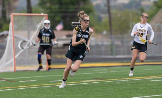 Pifer Dryden played defense for the Oak Park High girls lacrosse team.