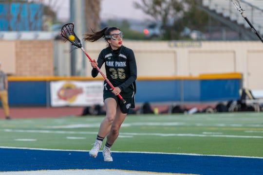 Senior Gillian Dryden played attack for the Oak Park High girls lacrosse team.