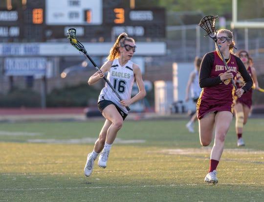 Midfielder Kathleen Dryden was a senior captain for the Oak Park High girls lacrosse team this season.