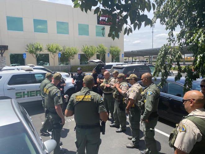 Tulare County deputies and officers prepare to travel to Oakland to help with riots gripping the city following the death of George Floyd.