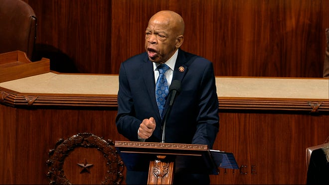Rep. John Lewis, D-Ga., on Capital Hill in December 2019. House Television Via AP