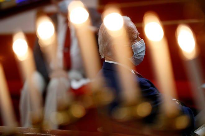 Democratic presidential candidate, former Vice President Joe Biden visits Bethel AME Church in Wilmington, Del., June 1, 2020.