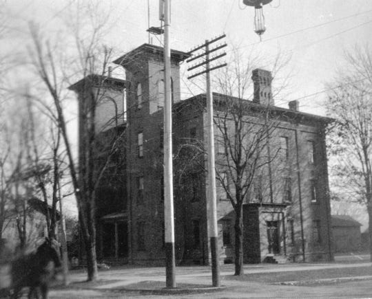 The twin-towered Union School, shown here in the late 1800s, stood on the southeast corner of Croghan Street and Park Avenue (then called Main Street) in Fremont from about 1869 until Ross High School was built on the same site in 1909.