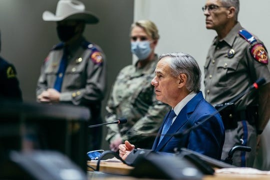 Gov. Greg Abbott at Dallas City Hall, June 2, 2020.