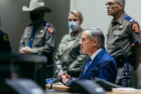 Gov. Greg Abbott at Dallas City Hall, June 2, 2020.