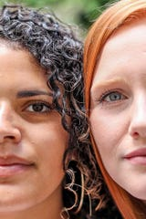 Monique Weatherwax and Ashley Rogers in a photo from Heather Dawn Photography as part of a project designed to reflect racial unity. The two are organizing a peaceful protest on Saturday in Coshocton.