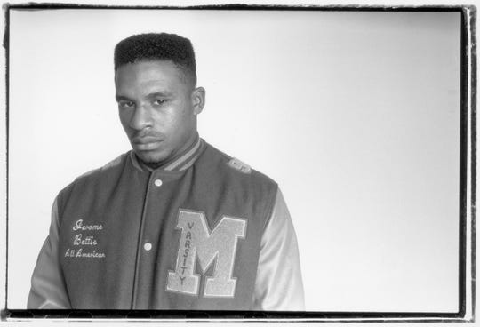 Jerome Bettis, back when he was a Mackenzie football star, on Sept. 10, 1989.