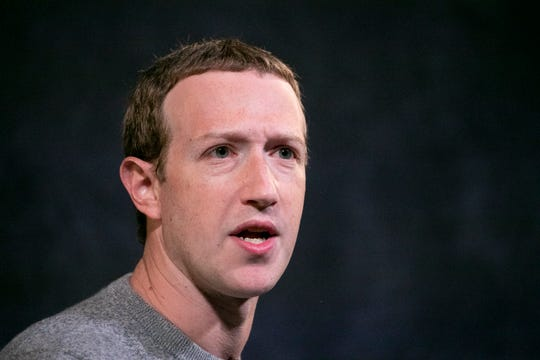 In this Oct. 25, 2019 photo Facebook CEO Mark Zuckerberg speaks at the Paley Center in New York.
