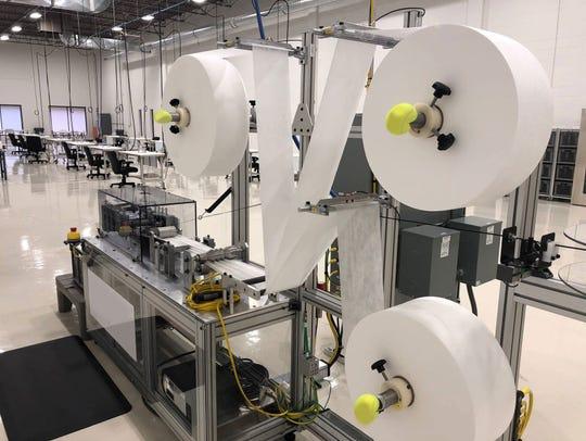 Machinery at the Farmington production facility.