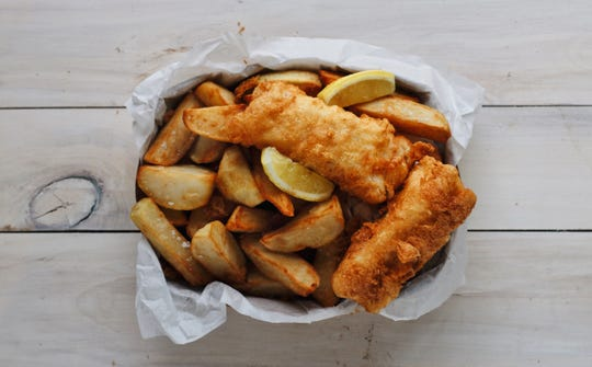 Fish and chips from Zingerman's Cornman farms.