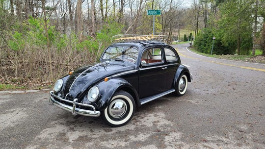 The 1964 VW Bug is rear-wheel-drive and was developed by Ferdinand Porsche, and can be fun to drive through Michigan's twisty roads despite just 40 horsepower.