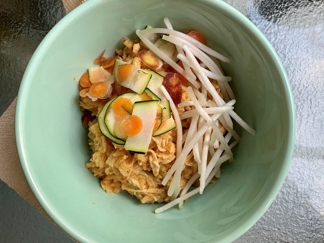 Food contributor Andrew Atkins may not be a gourmand, but he's no slouch in the kitchen. This Thai rice bowl is proof.