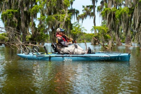 Douglas Menefee kayak fishing on Lake Martin. Friday, May 29, 2020.