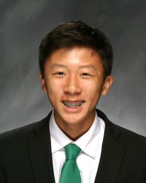 Trinity High School's Michael Chou was named Kentucky's 2020 Mr. Tennis. (Photo courtesy of Trinity High School.)