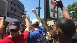 Protesters march in East Lansing against excessive force