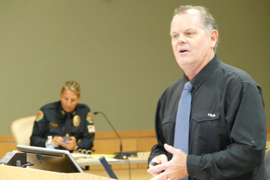Chris Byrne, emergency management and coordinator for the city, speaks during a Marco Island City Council meeting on June 1, 2020.