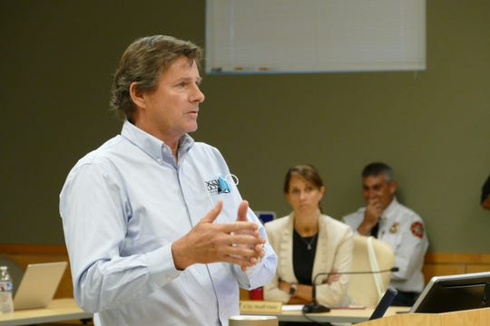 Daniel A. Summers, principal architect with BSSW Architects, speaks during a Marco Island City Council meeting on June 1, 2020.
