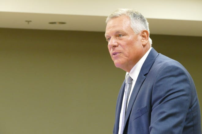 Greg Folley speaks during a Marco Island City Council meeting on June 1, 2020.