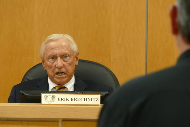 Chairman Erik Brechnitz speaks during a Marco Island City Council meeting on June 1, 2020.