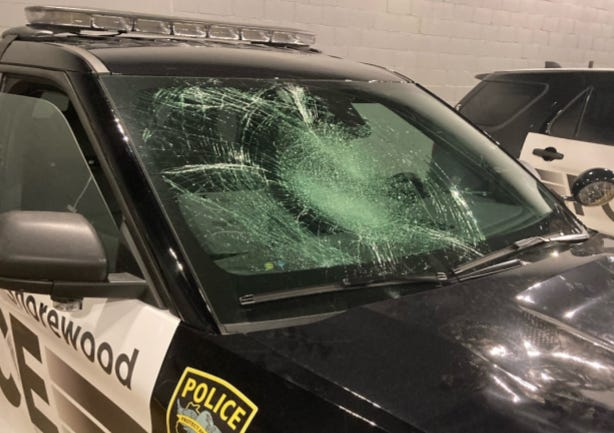 A Shorewood squad was damaged by vandals on Oakland and Edgewood avenues around 10 p.m. Sunday, May 31, according to Shorewood police.