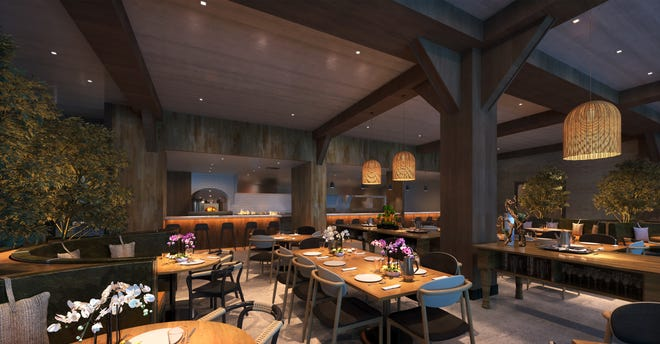 The dining areas will be able to seat about 260 at capacity at Eldr + Rime, the restaurant in the Renaissance Milwaukee West Hotel coming to Wauwatosa. At less than capacity, there's room for social distancing.