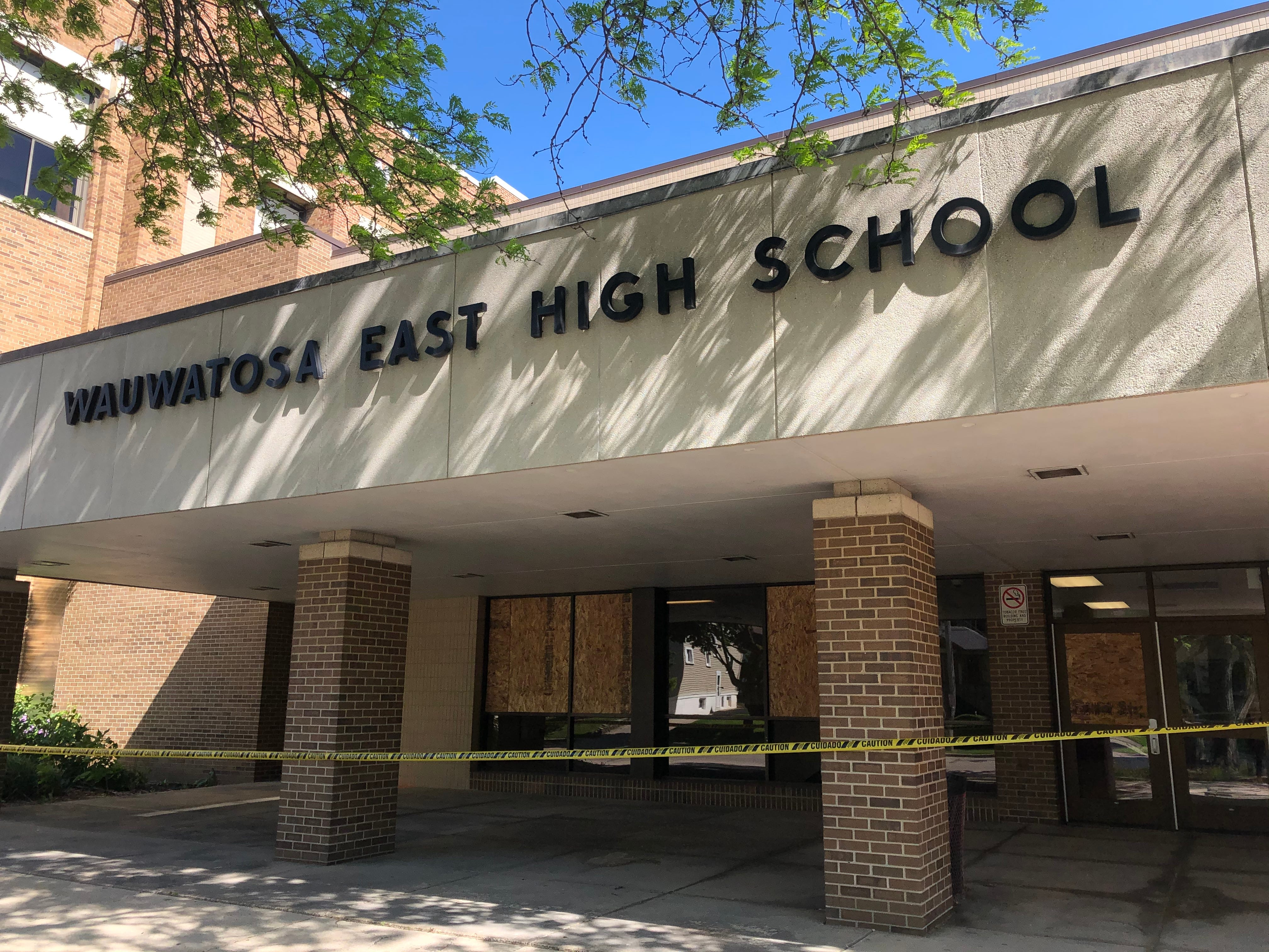 Wauwatosa East High School Windows Smashed As City Was Under Curfew