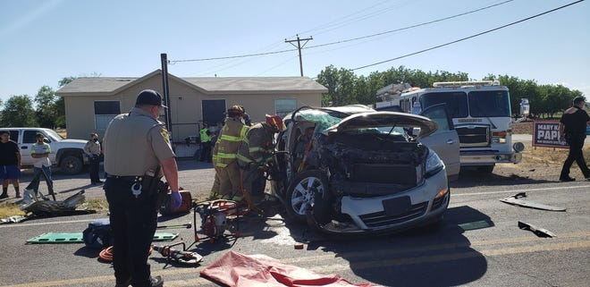Three people were injured in a crash along NM 28 in Chamberino on Monday, June 1, 2020.