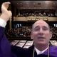Joseph Shepard, president of Western New Mexico University, tosses his cap during the university's virtual commencement on Friday, May 29, 2020.