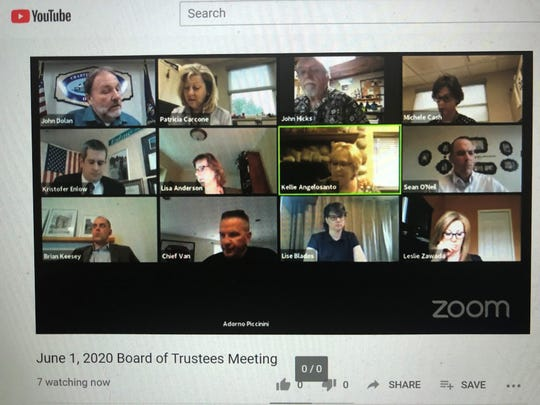 Attendees of the Lyon Township Board virtual meeting on June 1, 2020, during which three developments were approved.