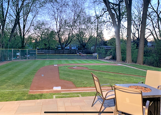 A view from the recently installed patio.