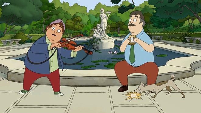 Birdie (Josh Gad) sings narration in 'Central Park.'