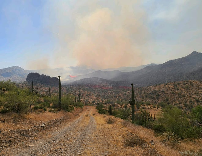The Sawtooth Fire had burned more than 18,500 acres of the Superstition Wilderness by the end of June 1, 2020.